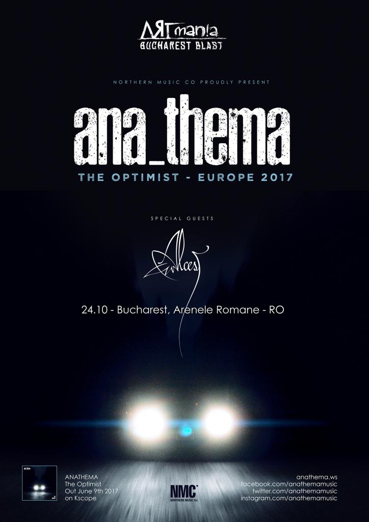 Poster_Anathema la ARTmania Bucharest Blast